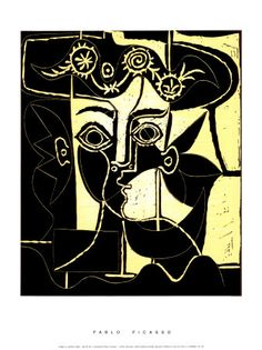 Femme au Chapeau Orne, c.1962 Serigraph van Pablo Picasso bij AllPosters.nl