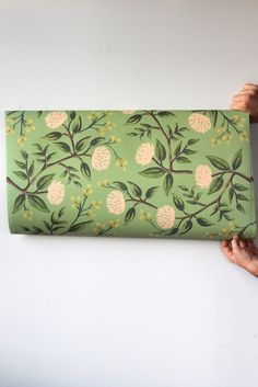Pretty Elmerald Peonies Gift Wrapping Sheets