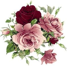 """Photo from album """"flowers vintage"""" on - Decoupage Vintage, Decoupage Paper, Vintage Diy, Vintage Paper, Art Floral, Floral Prints, Vintage Flowers, Vintage Floral, Pink Flowers"""