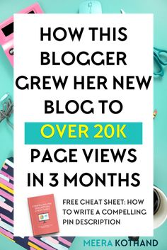 How this blogger grew her new blog to over 20K page views in just 3 months Blog Tips, News Blog, Marketing Digital, Online Marketing, Content Marketing, Affiliate Marketing, Mobile Marketing, Business Tips, Online Business