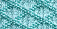 King Charles Brocade Diamond Knitting Pattern - A combination of KNIT and PURL. How to Knit, FREE written instructions, Chart, PDF knitting pattern