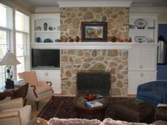 built-ins around fireplace | Indianapolis Built In Cabinets | Innovative Cabinets and Closets