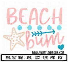 Beach bum SVG, DXF, EPS, png Files for Cutting Machines Cameo or Cricut - toddler beach shirt - beach shirt - cute beach svg - kid beach svg