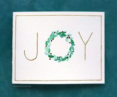 easy diy Happy Thursday, all! Christmas is less than a week awaycan you believe it? Where did the time go? :) Today I have three easy Christmas card ideas for you using only minimal supplies Painted Christmas Cards, Simple Christmas Cards, Watercolor Christmas Cards, Christmas Card Crafts, Homemade Christmas Cards, Printable Christmas Cards, Christmas Greeting Cards, Christmas Ideas, Christmas Cards Drawing