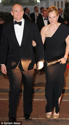 Mike Tindall Zara Phillips arriving at Prince William and Catherine Middleton's pre-wedding dinner gala held at the Mandarin Oriental Hyde Park on April 2011 in London, England.