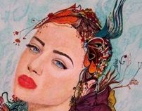 Summer mood by otilia elena, via Behance Cool Art, Behance, Princess Zelda, Mood, Cool Stuff, Illustration, Summer, Painting, Fictional Characters
