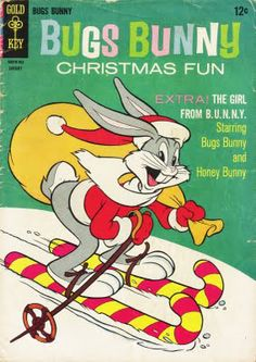 (IMAGE) Bugs Bunny Christmas Fun: Vintage cover from either a coloring book or comic book, not sure which ...