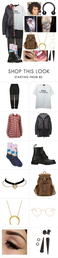 """☾The city is a jungle, better learn to fight ☾"" by kaninekiller ❤ liked on Polyvore featuring Boutique, Off-White, Annette Görtz, HOT SOX, Dr. Martens, Garrett Leight, Hot Topic and KanineSets"