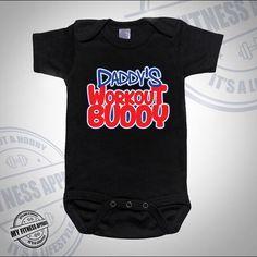 Funny Baby Onesie | Workout Onesie | Daddy Workout Buddy | Cute Onesie | Unisex Baby Onesie | Funny Onesie | Baby Bodysuit | Workout Onesie by MyFitnessApparel on Etsy