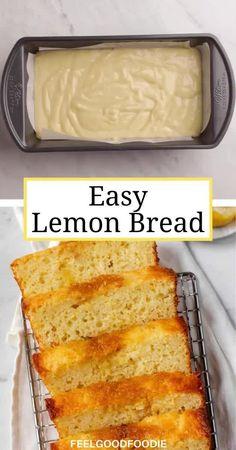 Lemon Recipes Baking, Lemon Recipes Easy, Easy Baking Recipes, Sweet Recipes, Köstliche Desserts, Lemon Desserts, Delicious Desserts, Dessert Recipes, Easy Bake Desserts