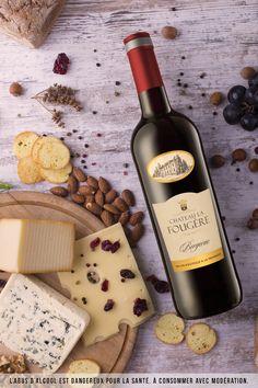 """Étiquette du vin rouge AOC Bergerac : """"La fougère"""" de Coulerus d'Aquitaine. Idéal avec des fromages qui révéleront toutes les qualités de ce Bergerac Rouge"""