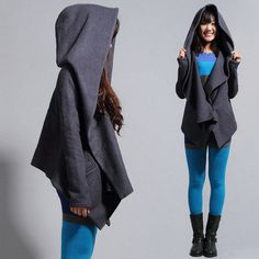 necessity! $137 Temperament gray coat. Just like dresses with pockets, hoods are always a plus :)