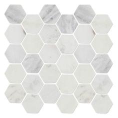 Gray veins, carrera hex | The Tile Shop