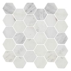 Gray veins, carrera hex | The Tile Shop