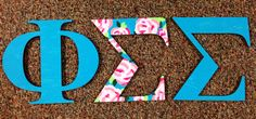 Lilly print sorority letters
