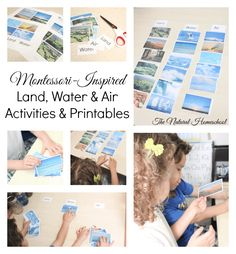 Montessori-Inspired Land, Water & Air Activities & Printables...