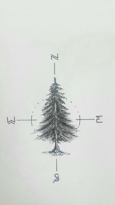 Tatto Ideas 2017 Working on a fir tree tattoo for myself _____________________________ compass tattoo Tatto Ideas 2017 - Working on a fir tree tattoo for myself _____________________________ Cute Tattoos, New Tattoos, Body Art Tattoos, Small Tattoos, Sleeve Tattoos, Tatoos, Ankle Tattoos, Pretty Tattoos, Word Tattoos