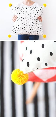 DIY cushion #pompom
