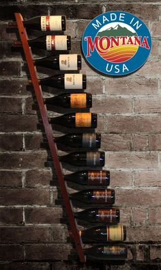 Our modern hanging wall wine racks are hand crafted from exquisite reclaimed Jarrah hardwood in Missoula, Montana. Great care is taken in each and every detail in order to provide a truly premium showcase for your finest wines. These wine racks are perfect for both big and small spaces and work especially well when multiple racks are used in unison. Custom sizes and colors may be requested with the Request a custom order button above.  Given that these racks are hand crafted from reclaimed…