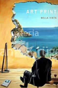 The surrealistic art print with the impressive view makes you want to vacation, rest and relaxation! You can enjoy this view every day anew - and it never gets boring. #surrealistic #artprint Beautiful Islands, Beautiful Places, Mallorca Island, Bull Painting, Rest And Relaxation, Landscape Paintings, Pause, Vacation, Art Prints