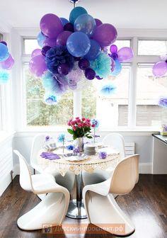 Детский день рождения украшение стола фото, украшение блюд на детский день рождения (8)