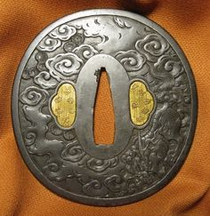 朧月象ヲ也 Oboro Tsukiyou o Nari / Tsuba (sword guard for Katana). Beautiful work!