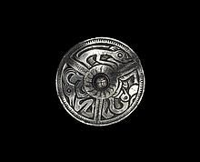 Viking Disc Brooch with Animal Frieze