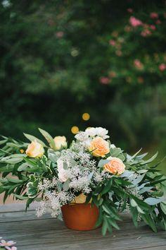 flower pot centerpiece | Sarah McKenzie