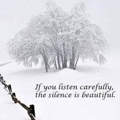 Silence is beautiful