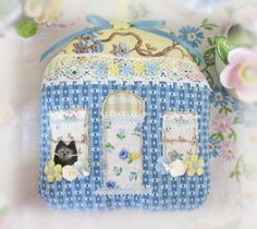RESERVED for Michelle Cottage Ornament House by CharlotteStyle