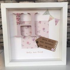 💖Personalised New Baby, Birth, Christening, Boy & Girl Frames Gift/Keepsake Baby Box Frame Ideas, Box Frame Art, Baby Frame, Baby Photo Frames, Picture Frames, Christening Frames, Christening Gifts, Newborn Shadow Box, Baby Shadow Boxes