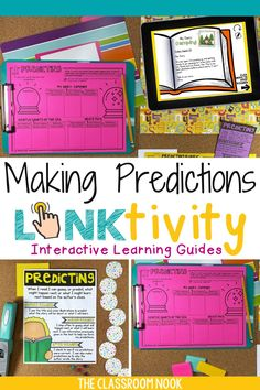 Teach your students about making PREDICTIONS while reading through LINKtivity digital learning guides! The perfect hands-on resource for distance learning, homeschool, or in-person instruction. Students will love the kid-friendly video, poster, bookmark, and high-interest practice passages. Also included is a teacher's guide, lesson plans, picture book ideas, rubrics and MORE! Compatible with Google Classroom with printable and digital materials. Teach with LINKtivities digital resources!