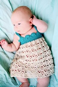 PDF Crochet Pattern for Baby Belle Dress - Sizes 0 to 6 months, Baby Dress…