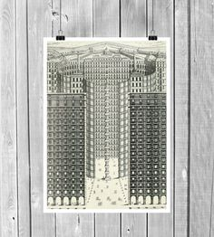 City. Architecture. Print . Photo Print. Digital by SaturnPrint
