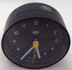 Braun Made in Germany Black Quartz Travel Alarm Clock 4 Braun Dieter Rams, Travel Alarm Clock, Clocks For Sale, Black Quartz, Design Language, Selling On Ebay, Germany, How To Make, Style