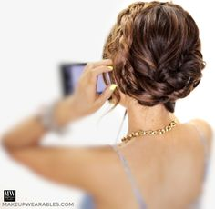 easy back to school hairstyles - merged fishtail crown braid updo tutorial