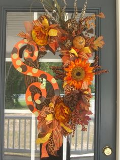 Fall Wreath! - Click image to find more Holidays Pinterest pins