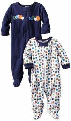Gerber Baby-Boys 2 Pack Sleep N Play Zip Front Sports Price:$6.99 - $10.50