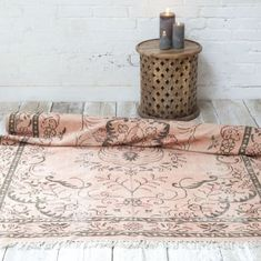 Pink Indian rug from Jo&Co