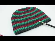Mütze häkeln | 3-farbig Myboshi Style | reflektierende Wolle | Unsichtbarer Übergang | 51 - 55 cm - YouTube