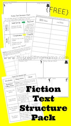 FREE Fiction Text Structure Pack ~ help readers comprehend the story elements and plot of fiction narrative texts | This Reading Mama