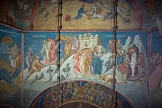 BLAGO : Decani : 24 Christ Talking to Martha and Mary in Bethany and Raising of Lazarus Fresco, Raising Of Lazarus, Life Of Christ, Byzantine Icons, Mural Art, Illuminated Manuscript, Mary, Museum, Culture