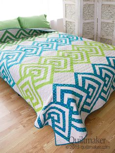Pattern: Over Under Queen Quilt. Love this