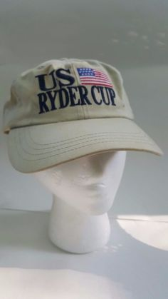 25e8d1309 Vintage US RYDER CUP  99 The Country Club Imperial Brand Light Brown  Adjustable  Imperial  BaseballCap