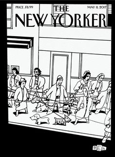 """The New Yorker - Monday, May 8, 2017 - Issue # 4686 - Vol. 93 - N° 12 - Cover """"Man's Best Friend"""" by Bruce Eric Kaplan"""