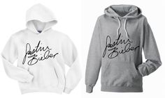 Justin Bieber Signature Hooded Sweatshirt by SoulClothes on Etsy, $31.00