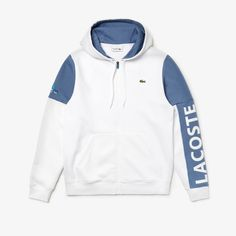 A colorblock design featuring Lacoste branding and the Miami Open logo for this zippered sweatshirt in cotton blend brushed fleece. Kids Clothes Boys, Men Clothes, Mens Sweatshirts, Hoodies, Kids Wear, Streetwear Fashion, Lacoste, Miami, Active Wear
