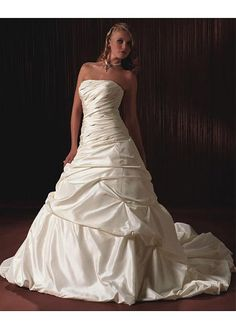 TAFFETA A-LINE WEDDING DRESS LACE BRIDESMAID PARTY BALL COCKTAIL EVENING GOWN IVORY WHITE FORMAL PROM BRIDAL