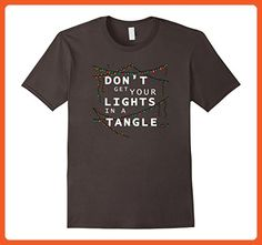 Mens Don't Get Your Lights In A Tangle Funny Christmas T-Shirt 2XL Asphalt - Funny shirts (*Partner-Link)
