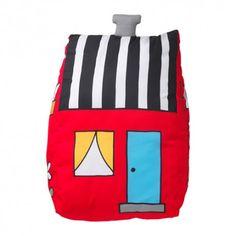 HEMMAHOS Poduszka dekoracyjna, czerwony, poduszka domek, 103.323.63, poduszka dekoracyjna ikea, ikea poduszka, poduszki z ikei, IKEA HEMMAHOS, ikea dla dzieci